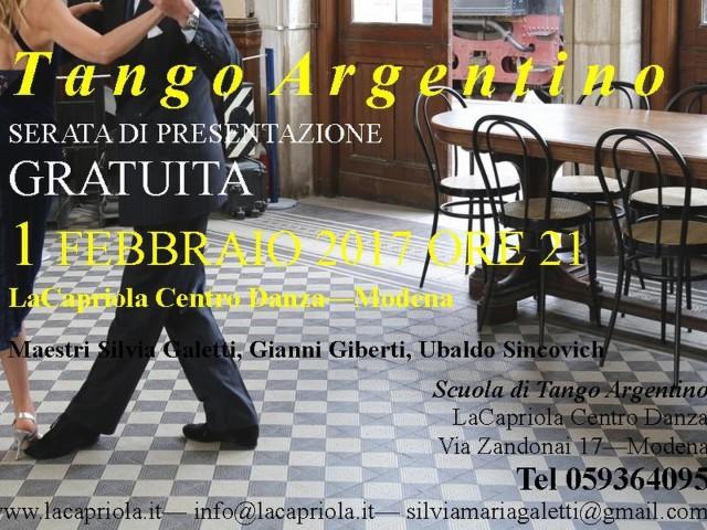 Tango argentino: nuovo corso principianti
