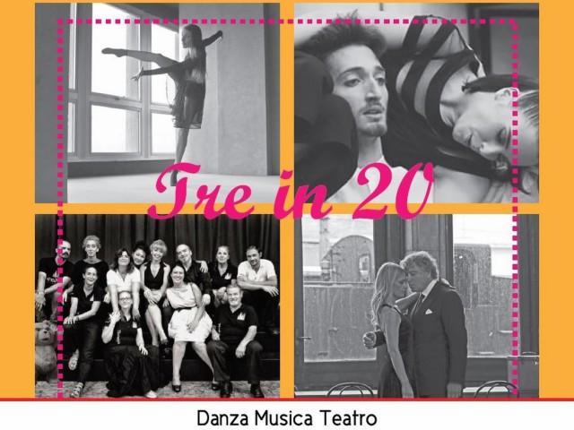 Spettacolo 'Tre in 20′