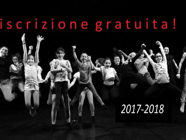 ISCRIZIONE 2017-2018 GRATUITA!