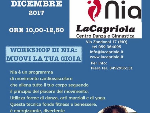 MUOVI La TUA GIOIA (workshop Nia Technique)